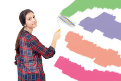 Young girl painting Stock Photo
