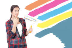 Young girl painting Royalty Free Stock Photo