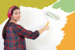 Young girl painting Stock Photography