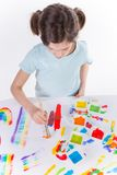 Young girl painting Stock Images