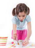 Young girl painting Royalty Free Stock Images