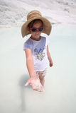 Young girl at Pamukkale, Turkey Stock Images
