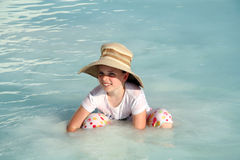 Young girl at Pamukkale, Turkey Royalty Free Stock Image