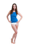 Young Girl in Panties and Camisole Royalty Free Stock Photos