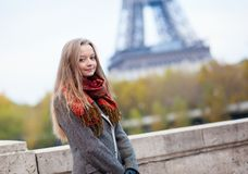 Young girl in Paris Royalty Free Stock Photo