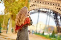 Young girl in Paris on a fall day Stock Photo