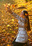 Young girl in a park Royalty Free Stock Image