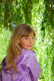 Young girl in park Stock Images