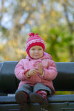 Young girl at the park Stock Photography