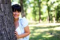 Young girl in the park Stock Photography