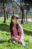 Young Girl at Park Royalty Free Stock Photos