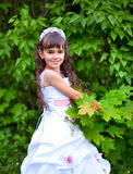 Young girl in the park Royalty Free Stock Image