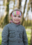 Young girl in park Stock Image