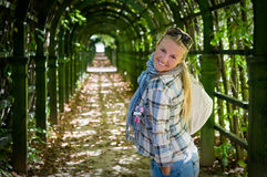 Young girl in a park Stock Photo
