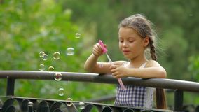 Young Girl In A Park stock video