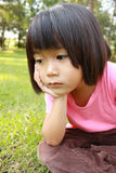 Young girl in the park. Royalty Free Stock Photo