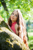 Young girl in a park Stock Photography