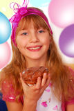 Young girl on the party Stock Image
