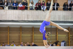 Young girl perform in Hall Dynamo Stadium Stock Photo