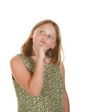 Young girl perplexed Royalty Free Stock Images