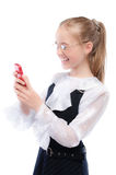 Young girl with phone Stock Photo