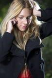 Young girl phone Royalty Free Stock Photos