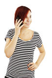 Young girl with phone Royalty Free Stock Images