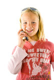 Young girl on the phone Royalty Free Stock Images