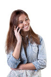 Young girl on the phone Stock Images