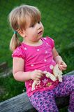 Young girl on picnic Stock Photos