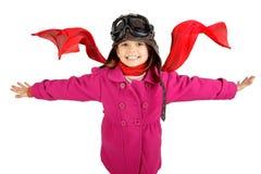 Girl pilot Royalty Free Stock Photo
