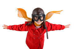 Girl pilot Royalty Free Stock Photography