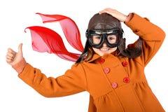 Girl pilot Stock Photography