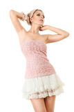 Young girl in pink clothing Royalty Free Stock Image