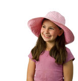 Young girl pink hat Royalty Free Stock Images