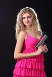 Young girl with pistol Royalty Free Stock Image