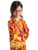 Young Girl With Pizza VII Stock Image