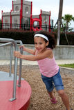 Young Girl on Playground Royalty Free Stock Photography
