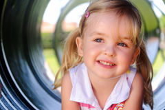 Young girl at playground Stock Image