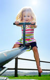 Young girl at playground Royalty Free Stock Images