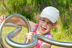 Young girl playing stock photography