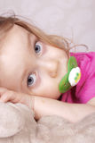 Young girl playing Royalty Free Stock Images