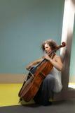 Young girl playing cello Royalty Free Stock Photos