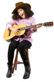 Young girl playing the guitar Royalty Free Stock Photo