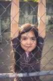 Young girl playing outside. Royalty Free Stock Photo
