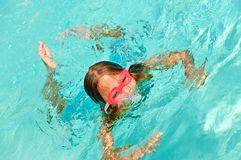 Young Girl Playing in a Pool Royalty Free Stock Photography