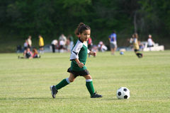 Free Young Girl Playing Soccer Royalty Free Stock Images - 753199