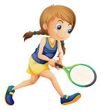 A young girl playing tennis Royalty Free Stock Photos