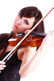 Young girl playing the violin Royalty Free Stock Photos