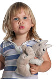 Young girl from plush toy Stock Photos
